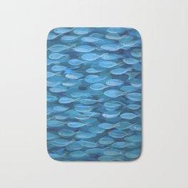Shimmer Shoal in Blue Bath Mat