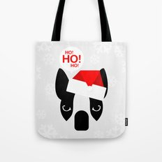 Santa Boston Terrier Tote Bag