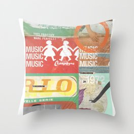 Music, Music, Music Throw Pillow