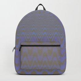 Subtle Wavy Purple and Grey Chevron Heartbeat Pattern Backpack