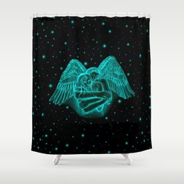 Amor , Eros - Angel and Woman in Love Shower Curtain