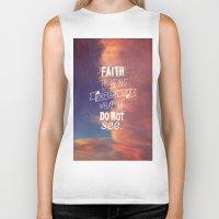 faith Biker Tanks featuring faith  by Brittney Borowski