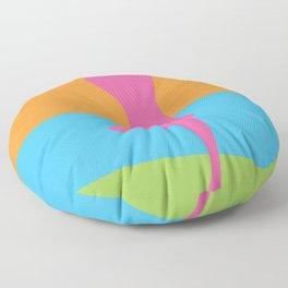 Girl In The Sun Floor Pillow