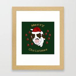 Beagle Christmas Framed Art Print