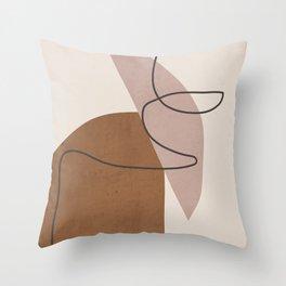 Minimal Abstract Art 6 Throw Pillow