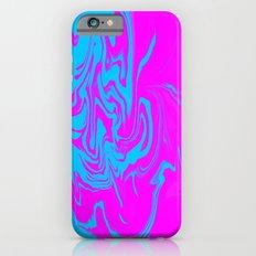 Blue and pink swirls  iPhone 6s Slim Case