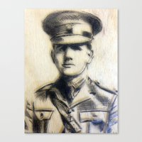 soldier Canvas Prints featuring Soldier by Tamsin Wildy