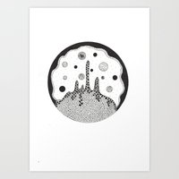 outer space Art Prints featuring Outer space by Malgorzata Zabawa