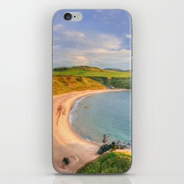 Porthor Bay at Sundown iPhone Skin