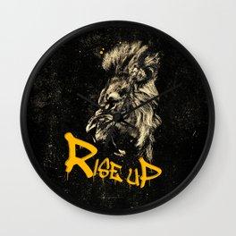 Rise Up - Roaring Lion Revolution Art Wall Clock