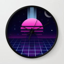 Neon Twilight Wall Clock