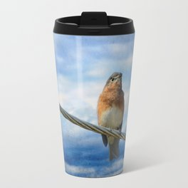 Heavenly Song Of The Bluebird Travel Mug