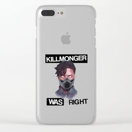 killmonger was right mask Clear iPhone Case