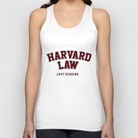 law Tank Tops featuring Harvard Law by FASHIONY