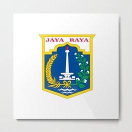 flag of jakarta or Djakarta Metal Print