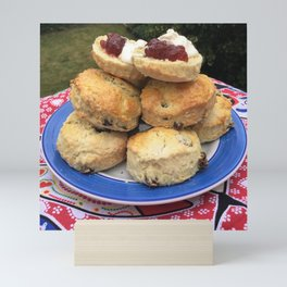 Afternoon tea, scones and jam, home cooking Mini Art Print