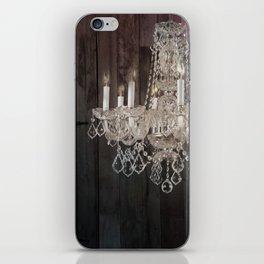 rustic barn wood western country chandelier iPhone Skin