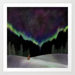 Captured by the night Art Print
