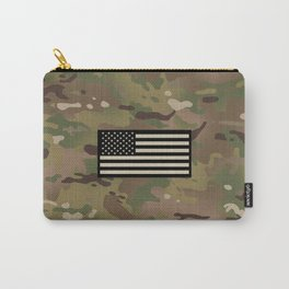 U.S. Flag: Woodland Camouflage Carry-All Pouch