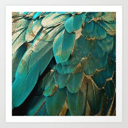 Feather Glitter Art Print