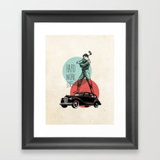 Hardworking Framed Art Print