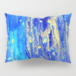 Gold & blue abstract d171013 Pillow Sham