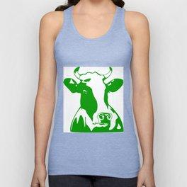 Animal Art Green Cow Unisex Tank Top