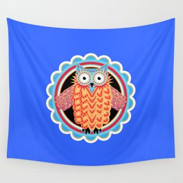 Cute Tribal Owl Wall Tapestry