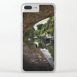 Painting Pewsey Bridge Clear iPhone Case