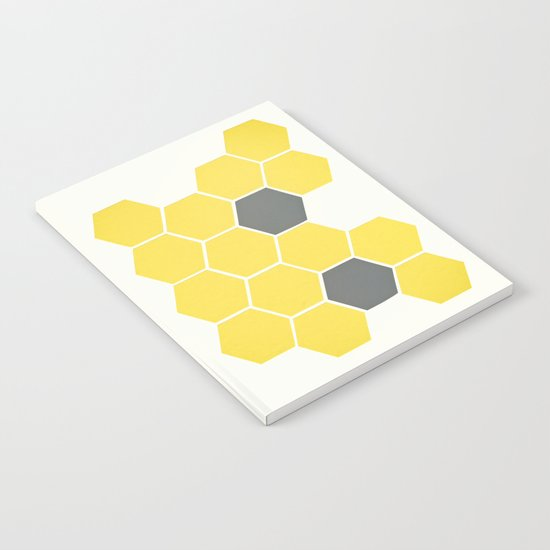 Yellow Honeycomb Notebook