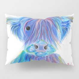 Scottish Highland Cow ' HIGHLAND BLOO ' by Shirley macArthur Pillow Sham