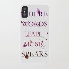 Music quote Slim Case iPhone X