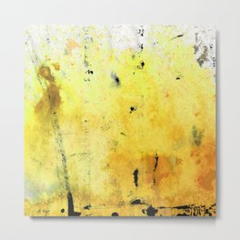 Yellow Orange Abstract Art - The Dreamer - By Sharon Cummings Metal Print