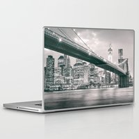 brooklyn bridge Laptop & iPad Skins featuring Brooklyn Bridge  by Vivienne Gucwa