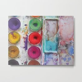 Watercolor Colorful Metal Print