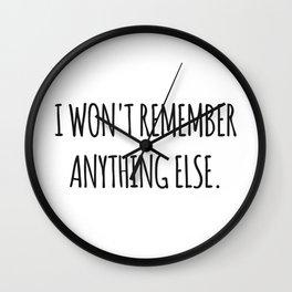 Lesbian quote Wall Clock