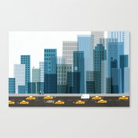 cityscape Canvas Prints featuring Cityscape by Keith Negley