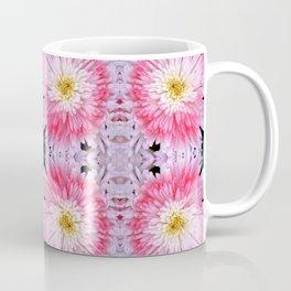 Rose Pink White Flower Blossoms Dahlias Coffee Mug