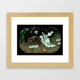 Illusions of greed Framed Art Print