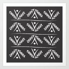charcoal wreath Art Print