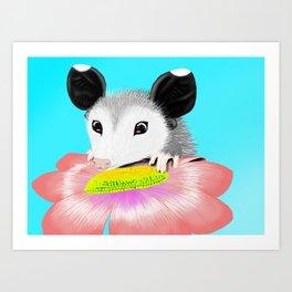 Blossom the Opossum Art Print