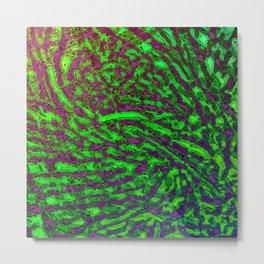 Electric Snake Skin Metal Print