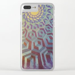 Moonlight Wave Clear iPhone Case