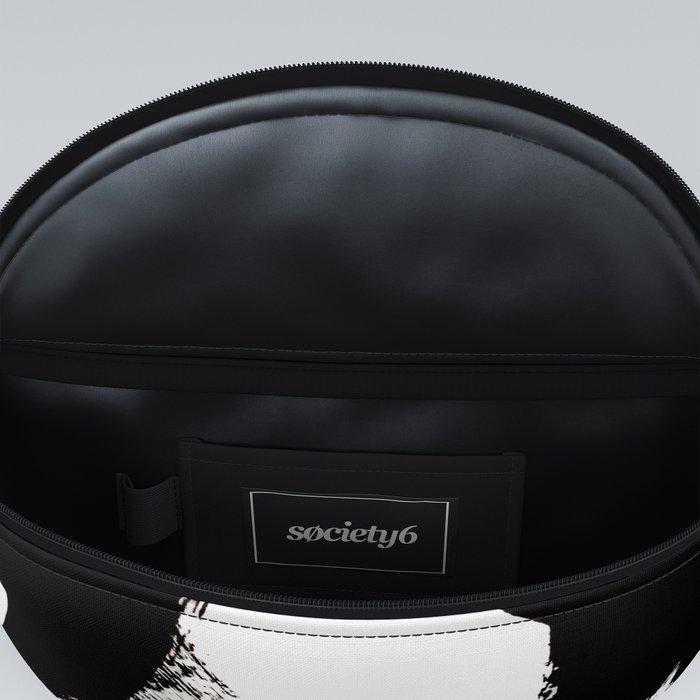 Brushstroke 2 - simple black and white Fanny Pack
