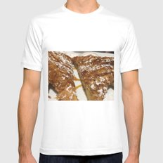 French Toast. White MEDIUM Mens Fitted Tee