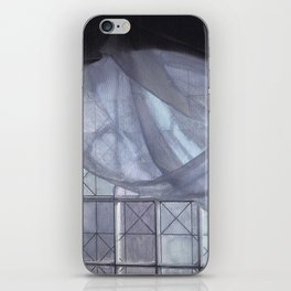 Blue Curtain in an Arched Window iPhone Skin