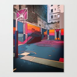 Play the game: Basketballcourt Canvas Print
