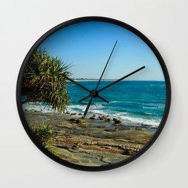 Pandanus Palms- Moffat Beach, Australia Wall Clock