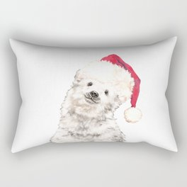 Christmas Baby Polar Bear Rectangular Pillow