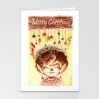 elf Stationery Cards featuring Elf by Sarah Dousse